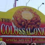 Colossal Onion. I didn't try this one but it looked interesting.  I was wanting to try the spiral spuds but the large serving size was too much for me.