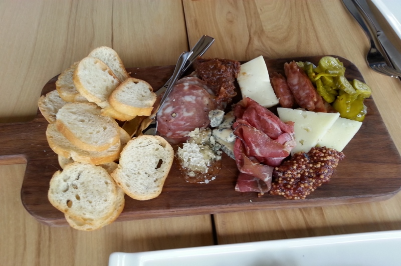 "THE ""BLOCK"" CHARCUTERIE cured meats, artisanal cheeses, pickled vegetables (for two)"